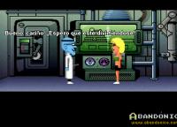 Sandy, la novia de Dave, raptada por el Dr. Fred.