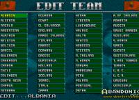 Listado de equipos (se pueden modificar)