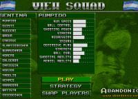 Formación de Argentina, los nombres de los jugadores reales pero quedaron medio desactualizados para la fecha (1993)