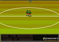 Visión durante el partido. Gol de Maradona.