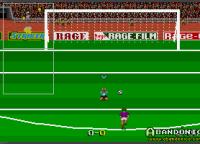 El jugador se agacha y se agarra la cabeza cuando erra un penal.