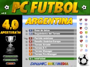 PC Fútbol 4.0 Argentina Apertura '96