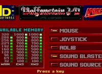 Mouse, Joystick, Adlib, Sound Blaster... los desarrolladores intentaban no dejar afuera a nadie.