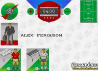 Desde esta pantalla elegimos los controles, la duración del partido, modo manager y hasta podemos cambiar al nombre del técnico (por defecto viene el Sir Alex Ferguson, como vemos un histórico del Manchester United).