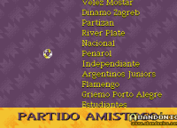 Listado de equipos para jugar partidos amistosos... de Argentina aparecen Argentinos Juniors, Estudiantes, Independiente y River Plate.